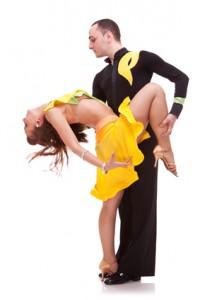 salsa male dancer holding his partner